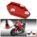 High Quality Red Motorcycle CNC Side Stand Enlarge Plate For DUCATI Monster 795 796 821 1200 1200S Multistrada 1200 1200S