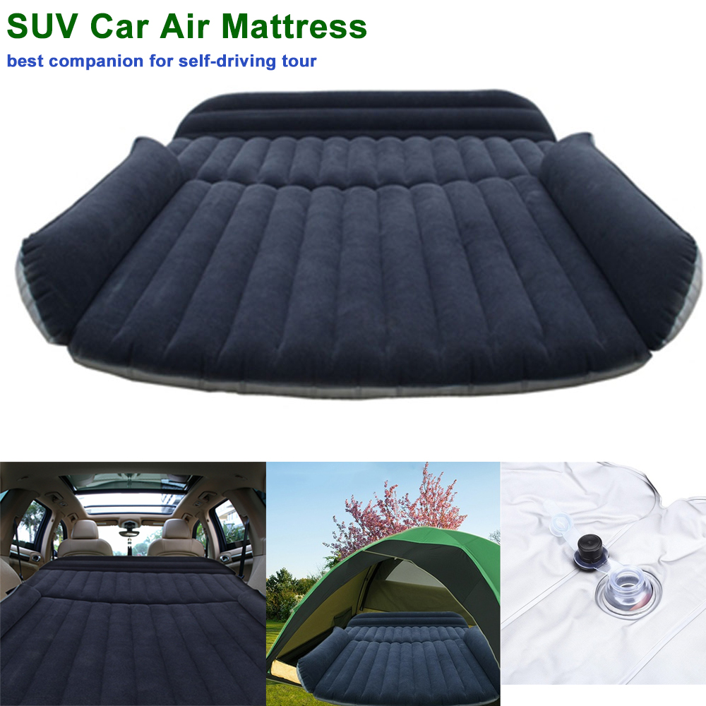 SUV Car Air Mattress Travel Bed Back Seat Cover Inflatable Blow Up Cushions Single Flocking Surface Multifunction for Camping 2014 intex high quality senior flocking single air bed