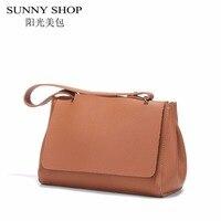 SUNNY SHOP 2017 Vintage Women Messenger Bags High Quality Shoulder Bags Women Leather Handbags Famous Brand