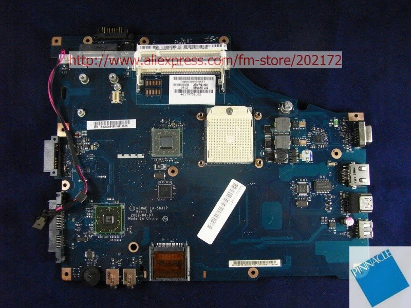 K000085480 Motherboard for Toshiba Satellite L450D L450 NBWAE LA-5831P tested good nokotion sps v000198120 for toshiba satellite a500 a505 motherboard intel gm45 ddr2 6050a2323101 mb a01