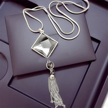 Tassels value lemon triangle maxi pendants statement punk necklaces crystal vintage
