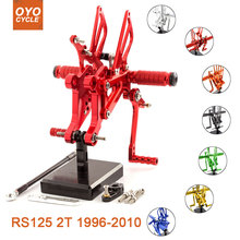 For Aprilia RS125 2T 1996-2010 Motorcycle Rear Set Accessories CNC Adjustable Rearset Foot Pegs 2005 Rests
