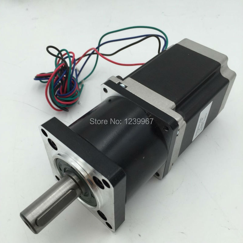 NEMA23 Planetary Gear Stepper Motor Ratio 20:1 57mm Motor Length 76mm 3A 1.8Nm 4 Leads for CNC Router gear ratio 20 1 nema23 worm geared stepper motor l112mm 4 2a 4 leads 2phase hybrid stepper motor for cnc router