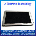 "New 100% Original Mid of 2012 For Apple MacBook Air 11'' 11.6"" A1370 A1465 LCD Screen Display Assembly MC505 MC968 MD223 6 Pin"