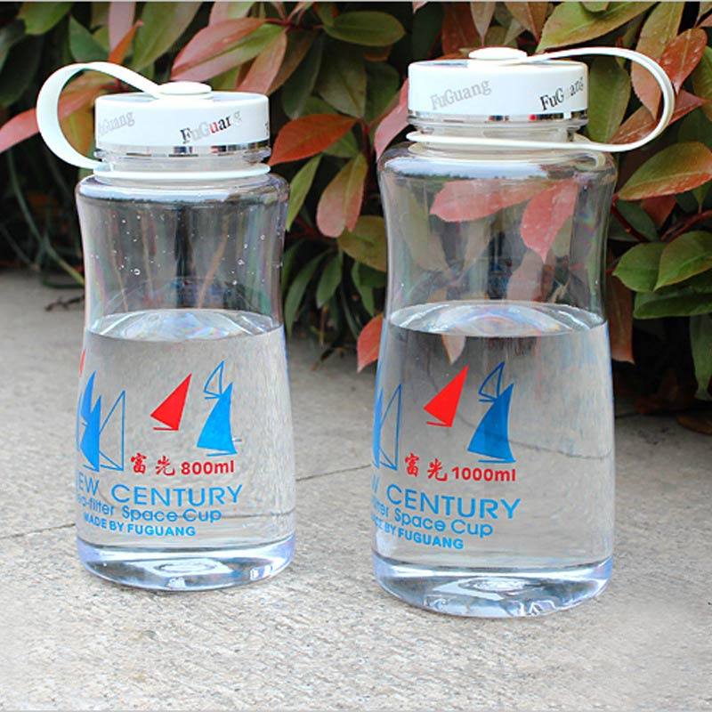 Protein Shaker Lid: Fashion Clear Water Bottle Plastic Botle Protein Shaker