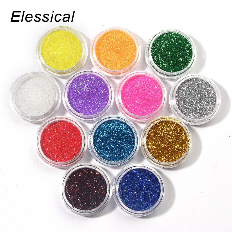 12 Colors Beauty Nail Glitter Powder Dust UV Gel Acylic 3D Nail Art Dust Women DIY Manicure Decorations Make Up Tools WY207