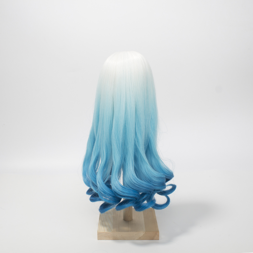 1 3 1 4 1 6 Scale Bjd Wig Hair High temperature Synthetic Fiber Long Curly Purple Green Blue Ombre Color Wigs for BJD Dolls in Dolls Accessories from Toys Hobbies