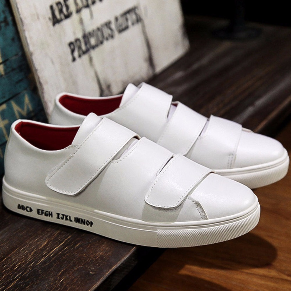 Skate shoes quality - Aliexpress Com Buy Urban Fashion Hook Loop Straps Casual Shoes Mens Quality Leather Skate Shoes Flats Hip Hop Rocky Shoes For Tide Boys Young Man From