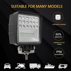 Image 5 - CO LIGHT Off Road Work Light 63W Flood 4.3 Led Fog Lights for Auto ATV Lada Tractor Truck SUV Boat Led 12V 24V 4X4 Accessories