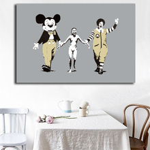 Banksy Street Graffiti Napalm Wallpaper Canvas Posters Prints Wall Art Painting Decorative Picture Modern Home Decor Accessories цена и фото