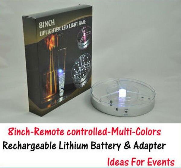 Free Shipping 10unitslot 8inch Led Uplights Rgb Color Changing Led