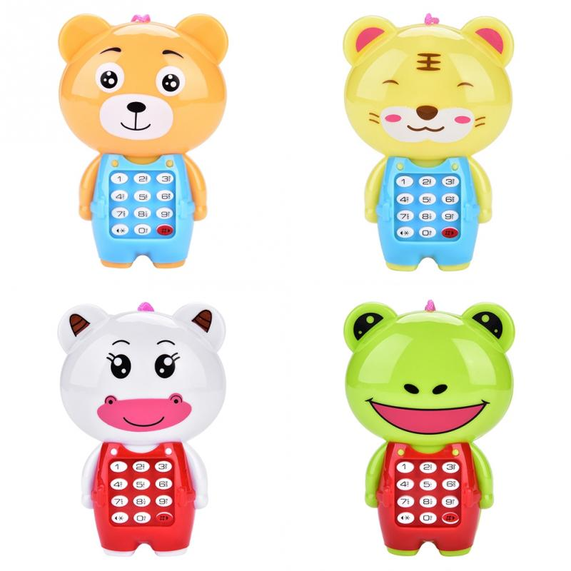 New Electronic Toy Phone For Children Cute Animal Musical Sounding Multifunctional Cell Phone Hanging Bed Bell Toys For Children
