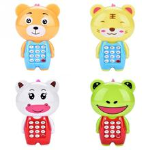 New Electronic Toy Phone For Children Cute Animal Musical Sounding Multifunctional Cell Hanging Bed Bell Toys