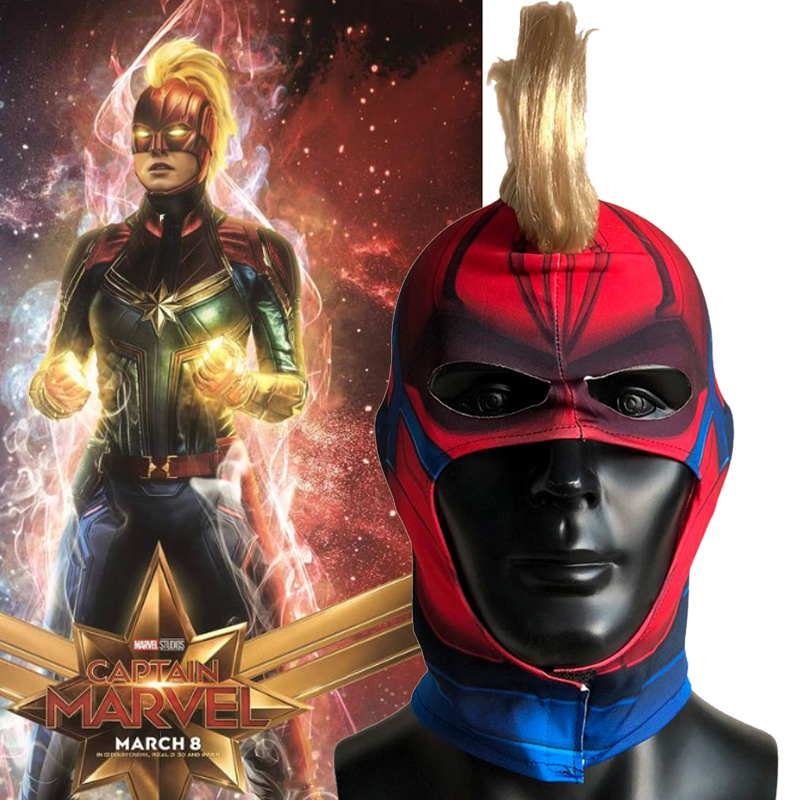 Captain Marvel Mask Cosplay Captain Marvel Carol Helmet With Wing Surpurhero Masks Halloween Party Props Dropship Men Women