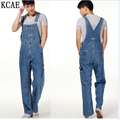 Hot 2015 Men's Plus Size Overalls Large Size Huge Denim Bib Pants Fashion Pocket Jumpsuits Male Free shipping brand