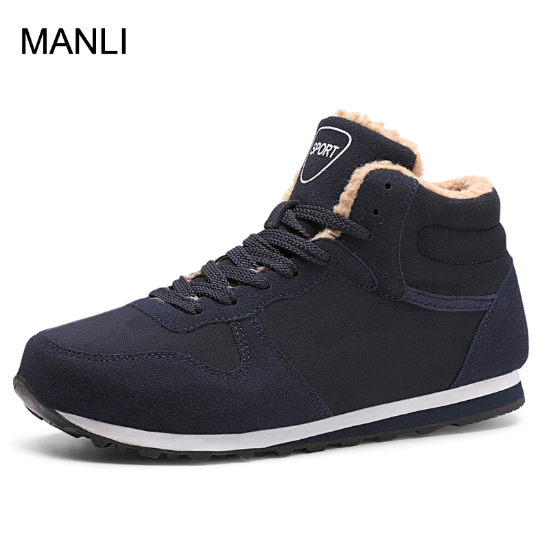 d4f40ac86e9d Bolangdi Genuine Leather Winter Men Women Boots Warm Plush Sneakers Brand  Outdoor Unisex Sport Shoes Comfortable Running Shoes