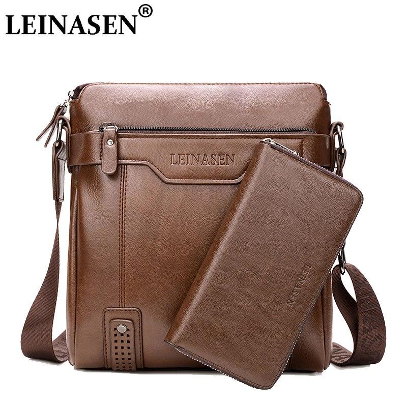 LEINASEN Brand 2018 casual Men Messenger Bags