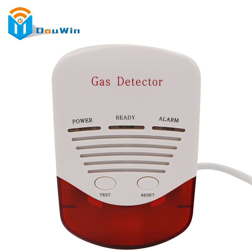 Independent Smoke Alarm Gas Detector Flammable Leakage Detector Monitor Alarm Sensor Home Alarm Siren Safety Device Kitchen
