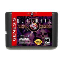 האולטימטיבי מורטל קומבט 3 16 קצת SEGA MD משחק כרטיס למגה כונן עבור Genesis