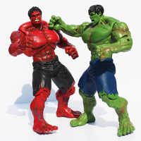Film Super Hero Die Hulk PVC Action-figur Spielzeug Rot & Grün Hulk Figuren Spielzeug 25 cm Große Geschenk