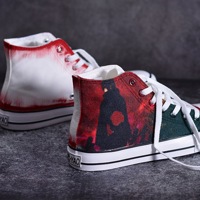 3D NARUTO THEMED HIGH TOP SHOES (8 VARIAN)