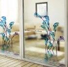 calla lily plastic frosted glass film Privacy Window Film Decorative Window Film Window paper sliding door bathroom