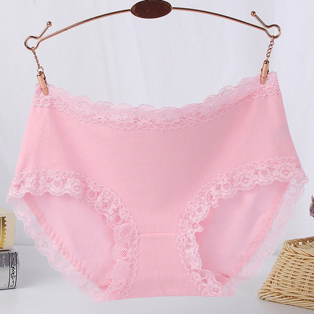 967711c8dd1 Women's Sexy Lace Solid Stretch Panties Seamless Cotton Breathable Panty  Hollow Briefs Plus Size Girl Brand Underwear Intimates