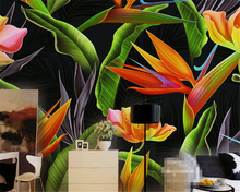 Beibehang 3d wallpaper tropical rainforests high-end beauty banana banana background living room bedroom TV background mural