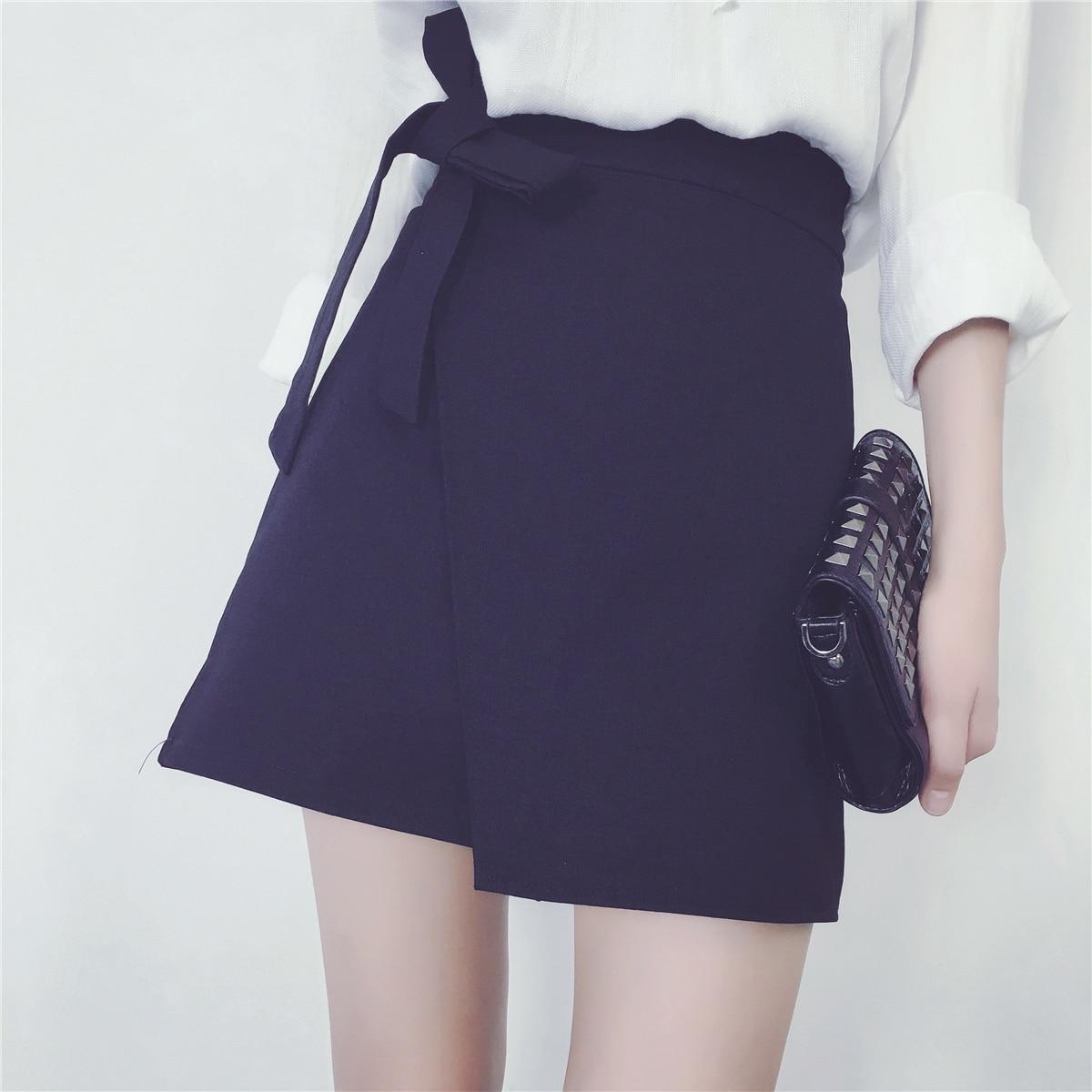 The 2017 summer students new A word skirt skirt waist slim skirt Korean female irregular skirt
