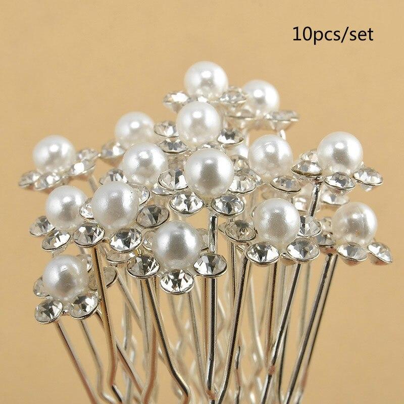 10pcs/set New Arrival Bridal Hair Ornaments  Simulated-pearl U-shaped Hairpin  Hair Stick Hair Accessory