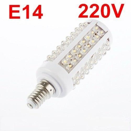 E14 220V Warm White 7W 108 LED Corn Light Bulb Lamp