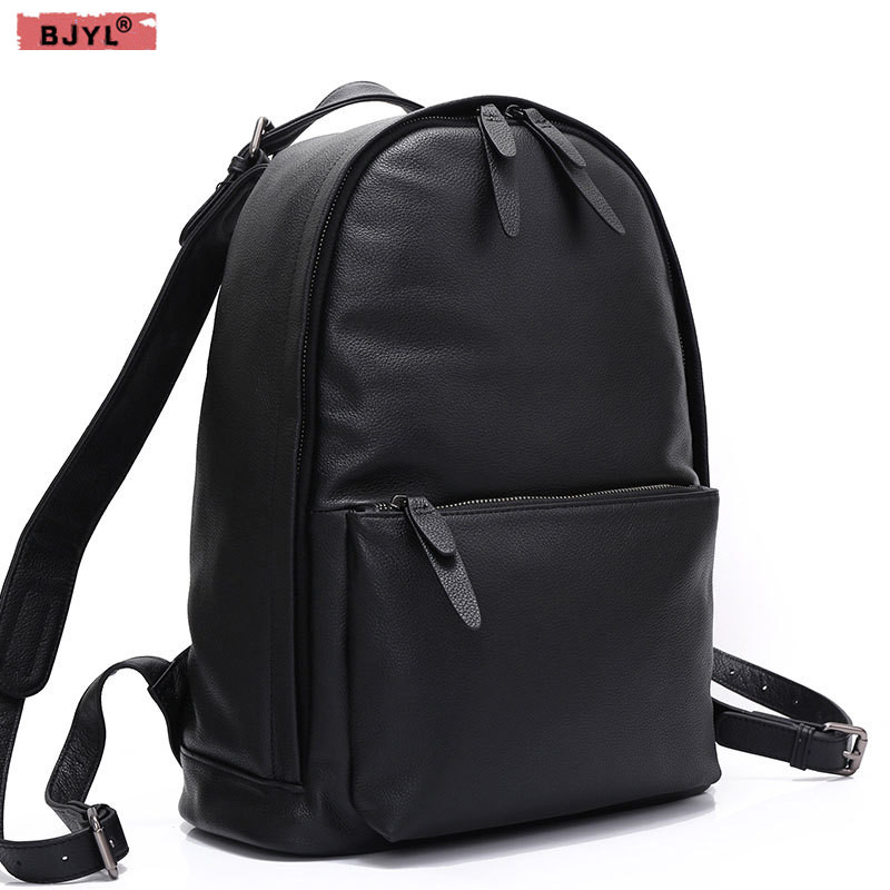 BJYL Retro genuine leather shoulder bag 2019new simple neutral men and women top layer of leather leisure travel backpacksBJYL Retro genuine leather shoulder bag 2019new simple neutral men and women top layer of leather leisure travel backpacks