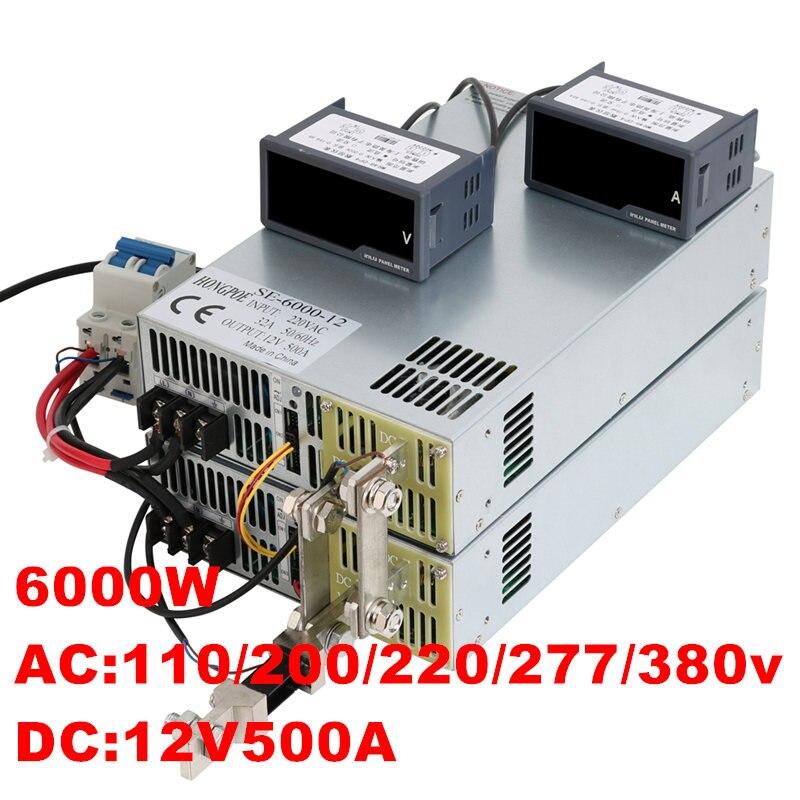 6000W 12V 500A 0-12V power supply 12V500A AC-DC High-Power PSU 0-5V analog signal control DC12V 500A 220V 380VAC h 500a