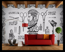 beibehang Custom size Europe and America retro vintage cement salon shop background wall paper papel de parede 3d wallpaper