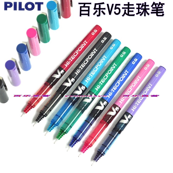Pilot hi-tecpoint v5 0.5 0.7mm ball pen bx-v5 v7 20pcs/lot pilot dr grip pure white retractable ball point pen