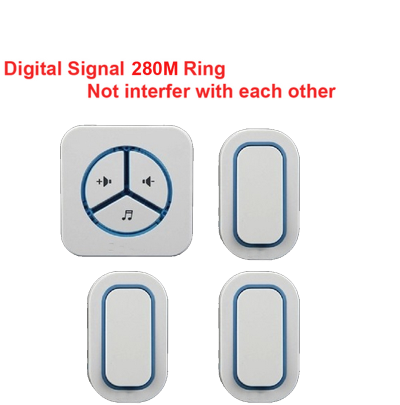 3 emitters+1 receivers doorbell Waterproof 280m work wireless doorbell,wireless door chime,wireless bell, 48 melodies door bell3 emitters+1 receivers doorbell Waterproof 280m work wireless doorbell,wireless door chime,wireless bell, 48 melodies door bell