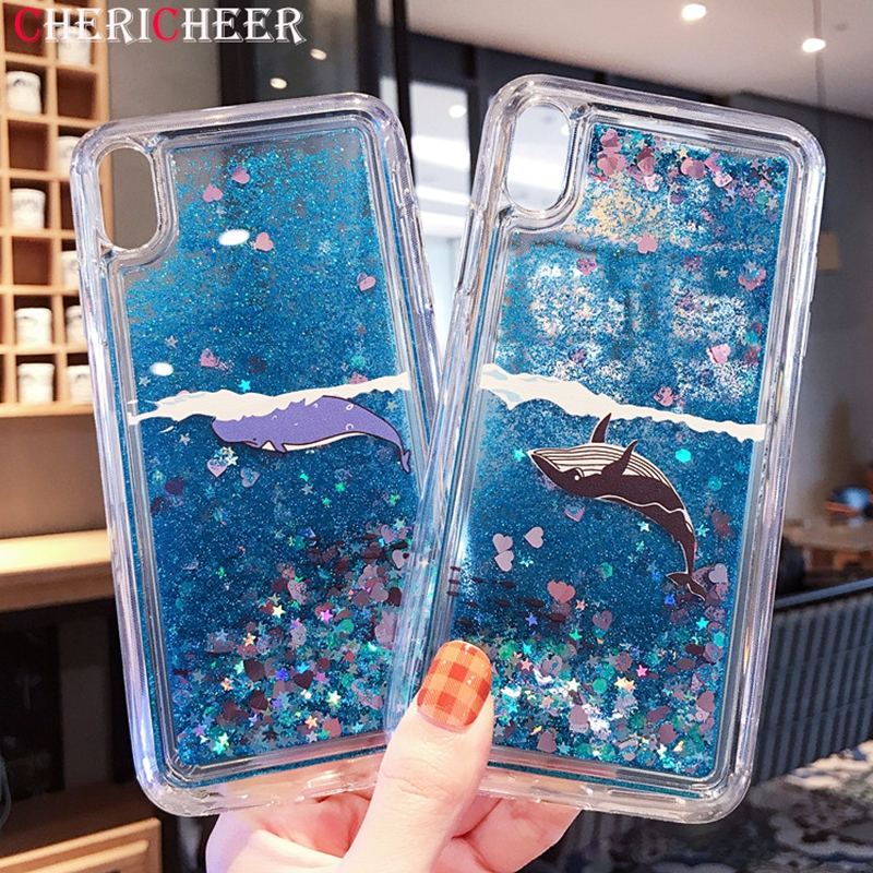 Dolphin Liquid Note 8 Case For Samsung Note 9 Case Glitter Sands Soft Cover For Samsung Galaxy Note 8 Silicone Case Note 9 Case Elegant In Smell Cellphones & Telecommunications Fitted Cases