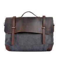 Men's Canvas Casual Messenger Bags Women Men CrossBody Bag Casual Briefcase Shoulder Bag Handbag