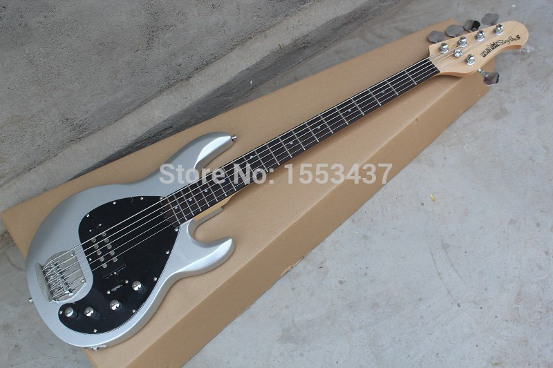 Wholesale musicman bass music man stingRay 5 electric bass guitar 9 V Battery active pickups initiative to pickup  hott3 free shipping 2017 new ernie ball musicman sting ray 4 strings white electric bass guitar in stock active pickups 1 15