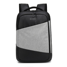 Anti Theft 15.6 Inch Laptop Backpack Bag School Zaino Pc Mochila Notebook Black Business Rugzak Gray USB Charging Backpack Men