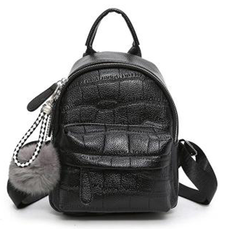 Pu Leather Backpack With Serving Female Mochila Travel Backpack