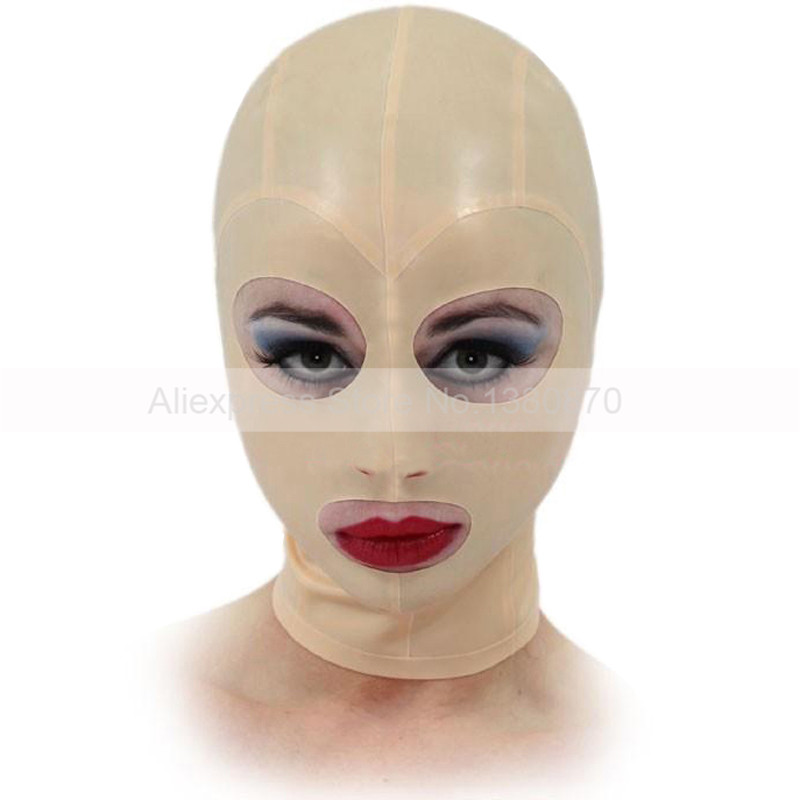 Bady ピンク女性男性ユニセックスラテックスゴムフードセクシーなファッションラテックスマスク手作りカスタマイズ S LM045  グループ上の ノベルティ & 特殊用途 からの セクシーコスチューム の中 1