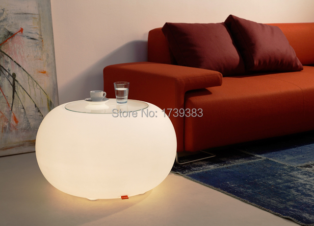 Remote Control BUBBLE OUTDOOR LED Waterproof Coffee Table Light LED Multi    ROUND Modern Drum Furniture
