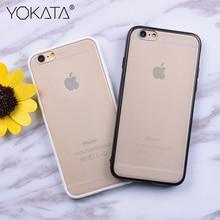 YOKATA Matte Clear Case For iPhone 5 5S SE 6 6s 7 Plus Case Black White Ultra Thin PC + TPU Transparent Protect Slim Cover