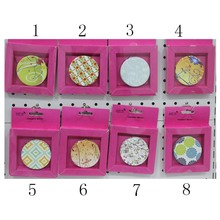 Freedom Choose 6cm Round 16 Different Patterns Folding Miroir De Maquillage Vanity Cosmetic Hand Compact Pocket Shop Mirror