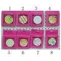 La libertad de Elegir 6 cm Ronda 16 Diferentes Patrones de Plegado Miroir de Maquillage Vanidad Cosméticos Tienda de Bolsillo Compacto Espejo de Mano