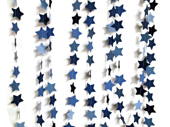 Paper Star Garland, Star Shape Garland, Wedding Garland