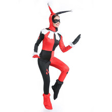 ZSQH New Suicide Squad Harley Quinn Cosplay Costume Bodysuit Jumpsuits Halloween Costumes for Women Bad girls(China)