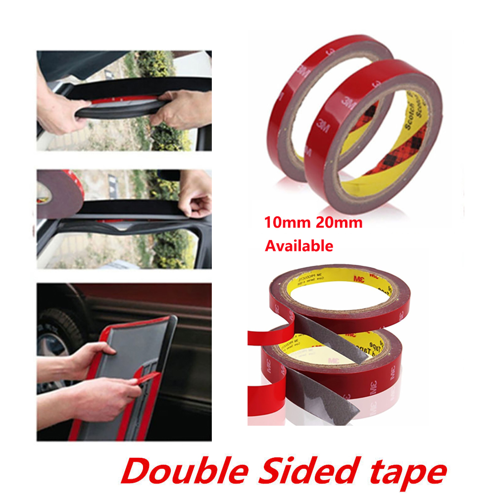 2Pcs 3M Double Sided Acrylic Foam Adhesive Tape Versatile Car Auto Truck Craft 10mm 20mm available 10x 30mm 3cm 3m 3m strong sticky adhesive acrylic foam tape for auto car truck advertise metal panel frame attach