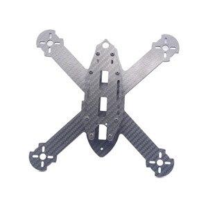 Image 5 - HSKRC TWE210 210mm Radstand 4mm Arm 3K Carbon Fiber X Typ FPV Racing Rahmen Kit für RC drone FPV Racing Kit